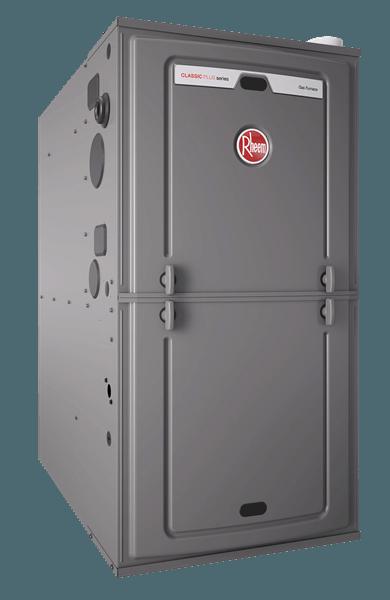 Rheem Hot Water Heaters >> High Efficiency Rheem Gas Furnace R95T Classic Plus Series
